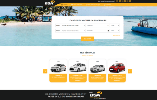 Site e-commerce Bsa Location